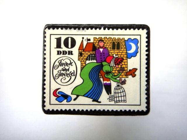 旧東ドイツ「童話」 切手ブローチ684