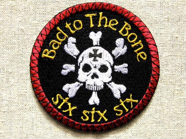 『Bad to The Bone:six six six』刺繍ワッペン・パッチ
