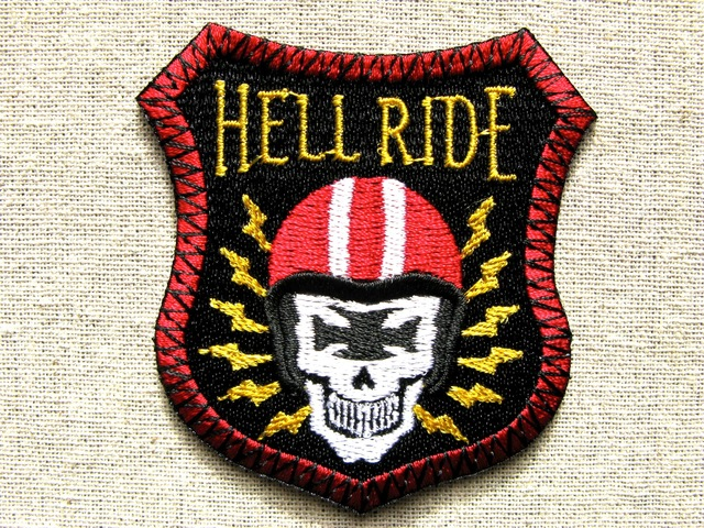 『HELL RIDE』刺繍ワッペン・パッチ