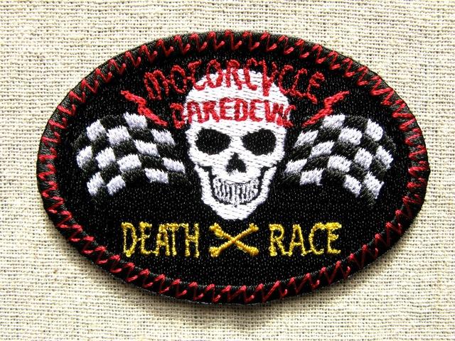 『DEATH RACE』刺繍ワッペン・パッチ