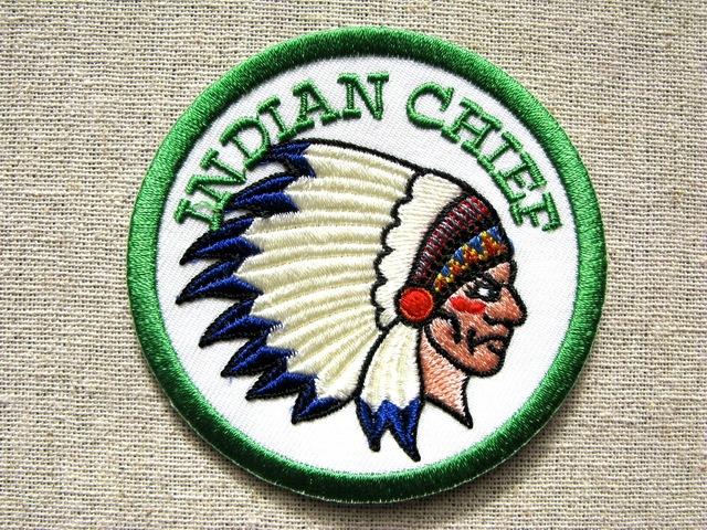 『インディアン・チーフ』刺繍ワッペン・パッチ