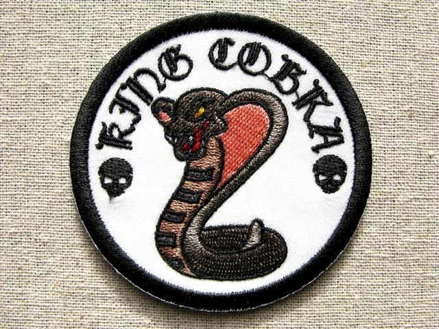 『キングコブラ』凶暴動物シリーズ 刺繍ワッペン・パッチ