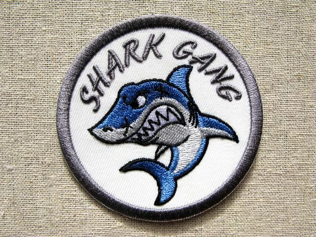 『サメ』凶暴動物シリーズ 刺繍ワッペン・パッチ