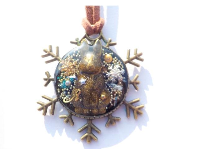 雪の結晶 うさぎ ネックレス