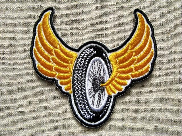 『FLYING WHEEL』刺繍ワッペン・パッチ