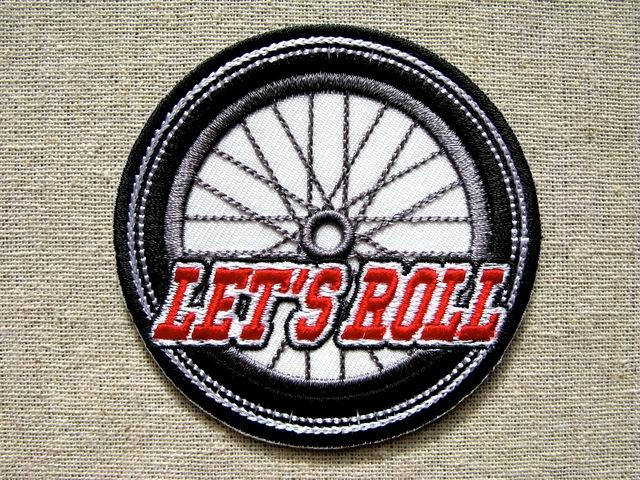『LET'S ROLL』刺繍ワッペン・パッチ
