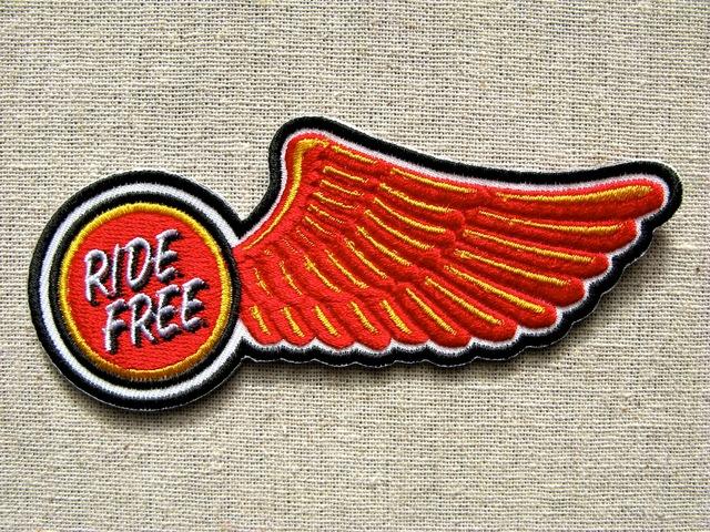 『RIDE FREE WING』刺繍ワッペン・パッチ