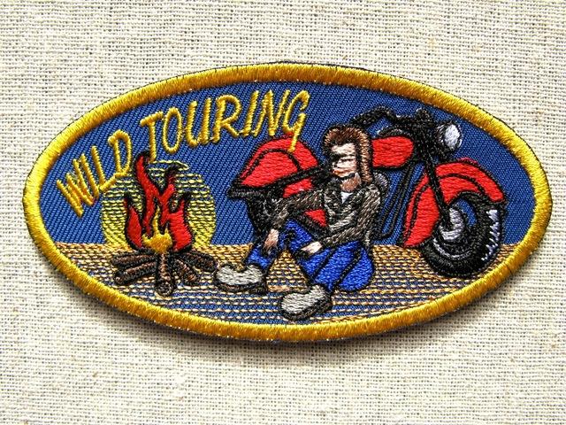『WILD TOURING』刺繍ワッペン・パッチ
