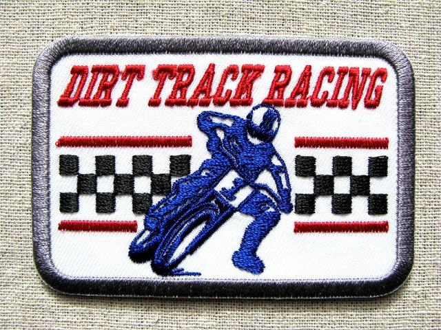 『DIRT TRACK RACING』刺繍ワッペン・パッチ