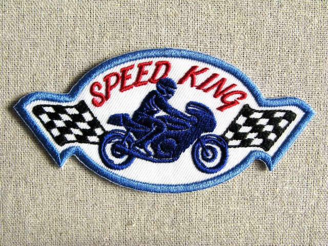 『SPEED KING』刺繍ワッペン・パッチ