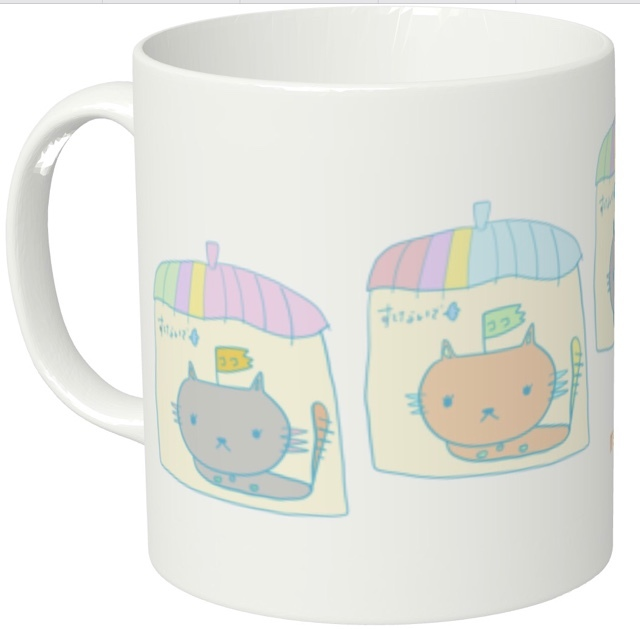 ★オリジナルキャラマグカップ★ここネコ