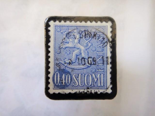 フィンランド 切手ブローチ 2909