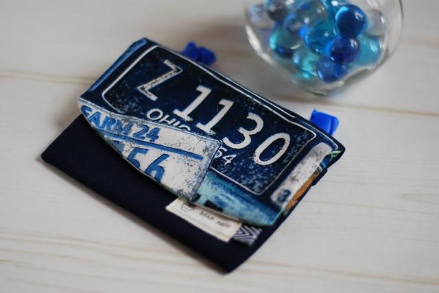 帆布の移動ポケット  ナンバープレート