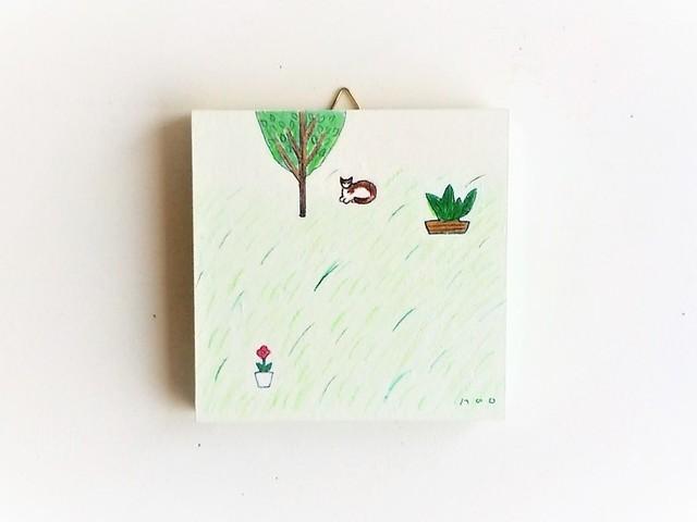 緑の庭 / アートパネル【原画】