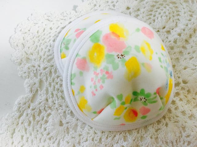可愛い布母乳パット〜花柄yellow