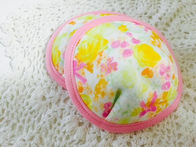可愛い布母乳パット〜pinkリボン