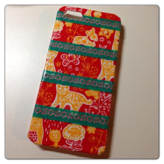 iPhone5ケース(レトロ猫)