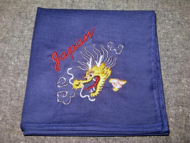 『スカバンダナ 龍』刺繍バンダナ・スカーフ