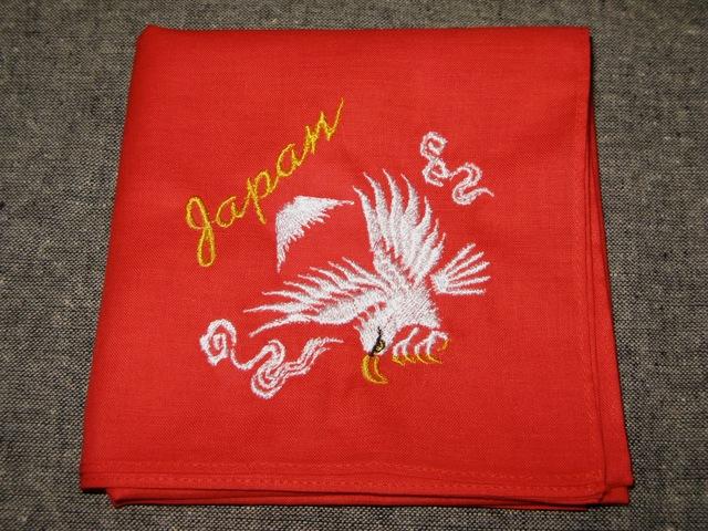 『スカバンダナ 鷹』刺繍バンダナ・スカーフ