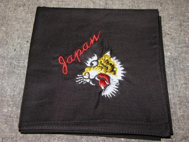 『スカバンダナ 虎顔』刺繍バンダナ・スカーフ