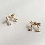 【送料無料】braid ribbon earrings