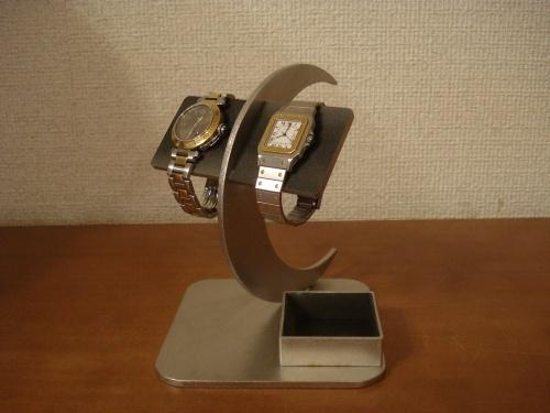 ブラック三日月バー腕時計スタンド 角トレイ付き