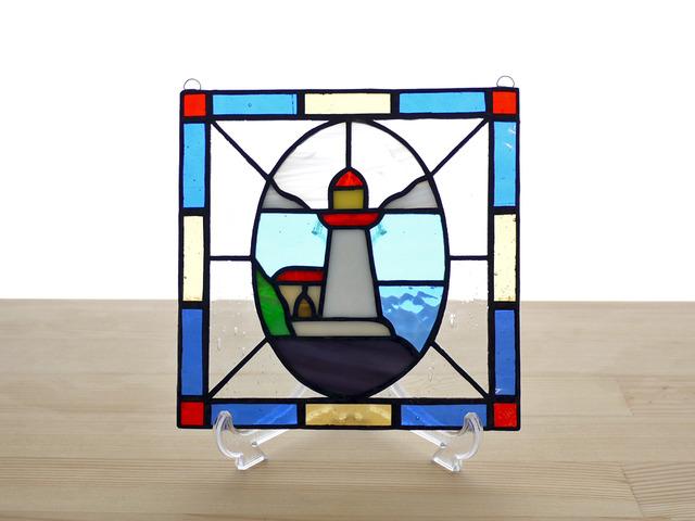 ステンドグラスパネル 灯台 Mサイズ