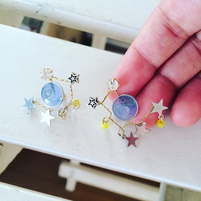 [Sさま予約品]小さい満月のイヤリング...