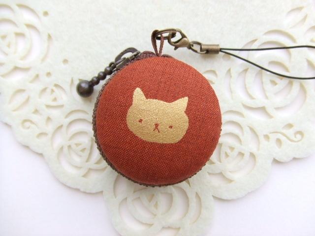 猫/茶系7/マカロンコインケース(マカロ...
