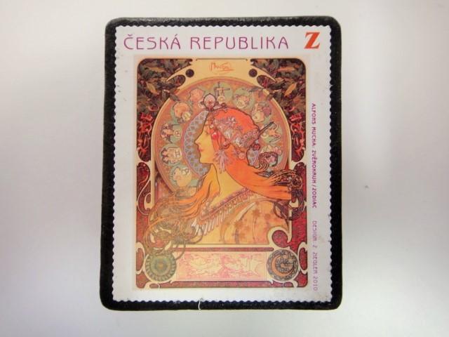 チェコ共和国 ミュシャ切手ブローチ 2918
