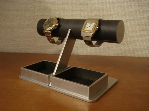 どっしりブラック腕時計トレイスタンド MN12