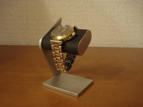 ブラックシングルデザイン腕時計スタンド MN13