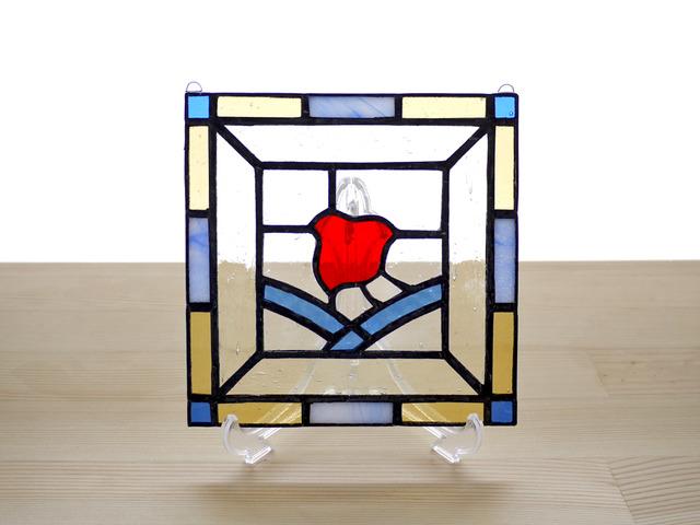 ステンドグラスパネル 千鳥 Mサイズ