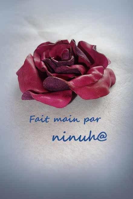染革の薔薇