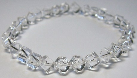 水晶キューブ型ブレスレット