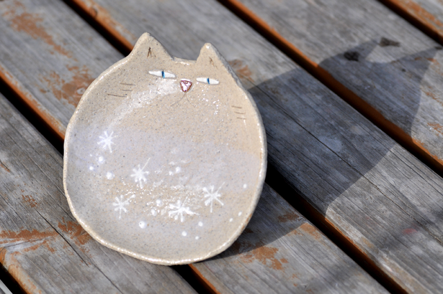 猫皿 *snow-crystal* レギュラーサイズ