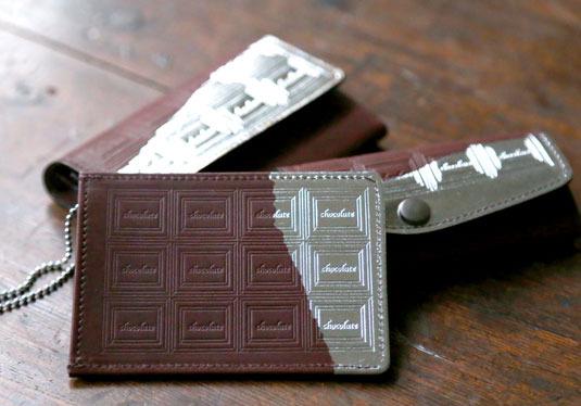 革のチョコレート・パスケース スイート(銀の包み紙)