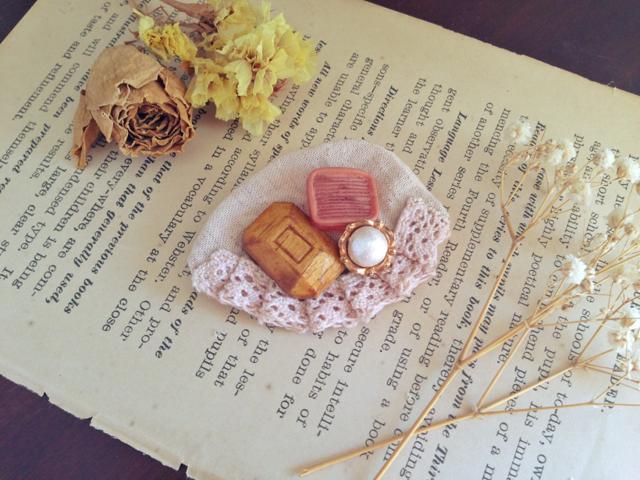 アンティークミセラニーブローチ Antique miscellany broach