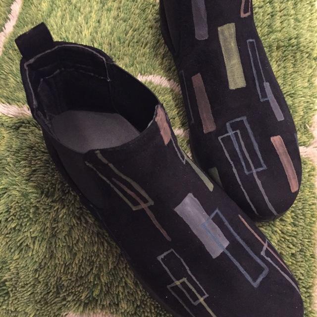 期間限定■受注製作■幾何学ラインのブーツ