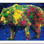 "Art Frame Poster ""Blue Bear"""