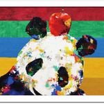"Art Frame Poster ""Apple Panda"""