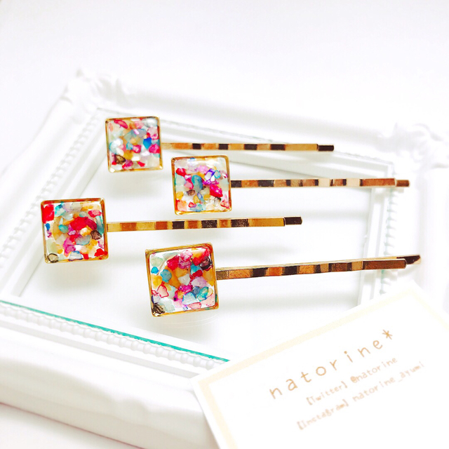 Small stained glass【ヘアピン】