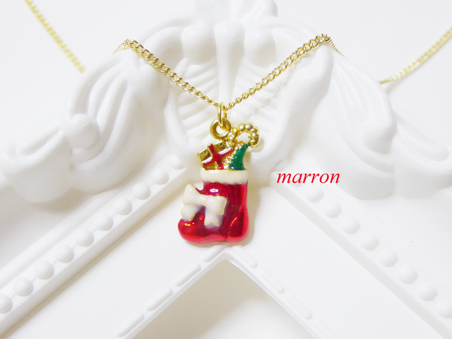 クリスマスブーツ☆ネックレス