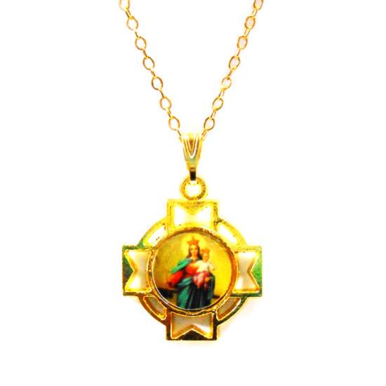 聖母子ペンダントネックレス