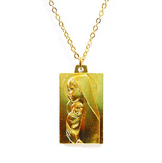 聖母子肖像ペンダントネックレス
