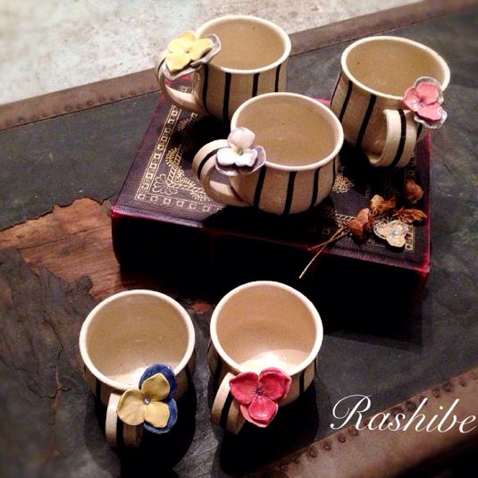再販  Flower マグカップ  〜ビオラ