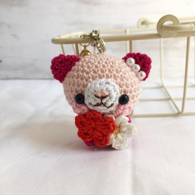 【受注生産】淡ピンク・ルビー色ネコさ...