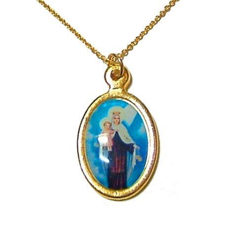 聖母マリア様のカラーネックレスペンダント