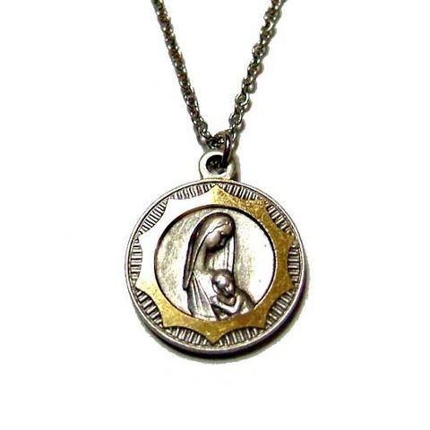 丸型聖母子ネックレスペンダント