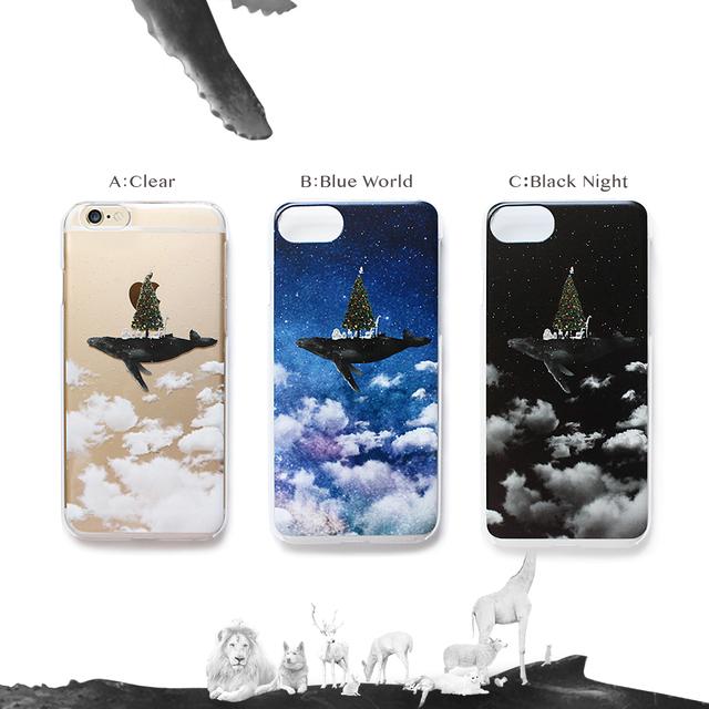iPhoneケース クジラツリー